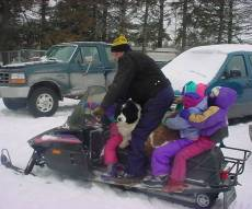 Snowmobile on the move